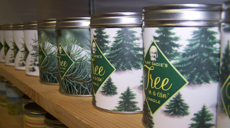 Aunt Sadie's Famous Tree in a Can Candle