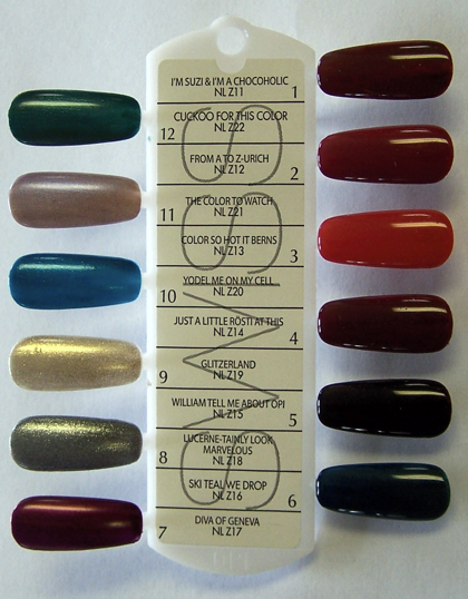 OPI Swiss Collection Nail Lacquer