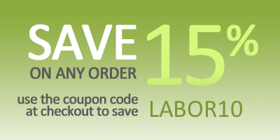 Save 15% on Any Orders through Labor Day