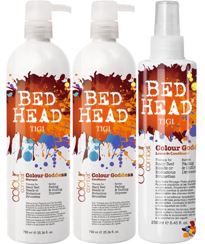 Tigi Bed Head Colour Goddess Shampoo Conditioner Leave-In Conditioner