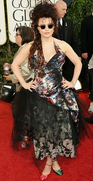 Helena Bonham Carter Golden Globes Red Carpet 2011 Worst Dressed
