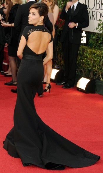 Eva Longoria Golden Globes Red Carpet 2011