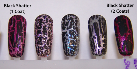 OPI Black Shatter with Katy Perry Collection In Stock Swatches