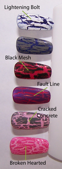 China Glaze Crackle Glaze Shatter Pink Purple White