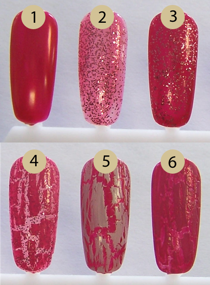 China Glaze Crackle Glaze Valentine Manicure