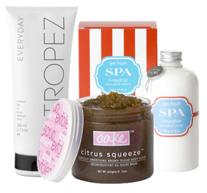 Cake Citrus Squeeze Scrub Get Fresh Spa Rich Body Creme St. Tropez Everyday Tan