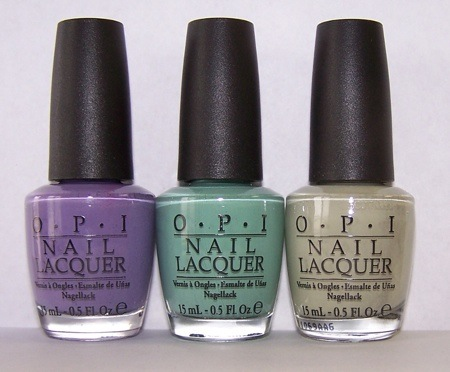 OPI Planks A Lot, Mermaid's Tears, Stranger Tides Nail Lacquer Swatches