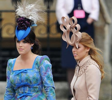 Royal Wedding Hats Princess Eugenie of York & Princess Beatrice of York