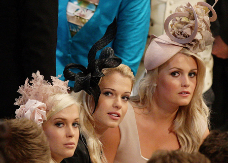 Royal Wedding Hats Kitty Spencer & Guests
