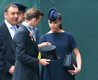 Royal Wedding Hats Victoria Beckham