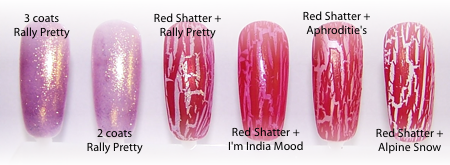 OPI Serena Glam Slam Rally Pretty Pink and Red Shatter Duo