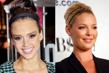 Summer 2011 Hairstyles Messy Updos Headband