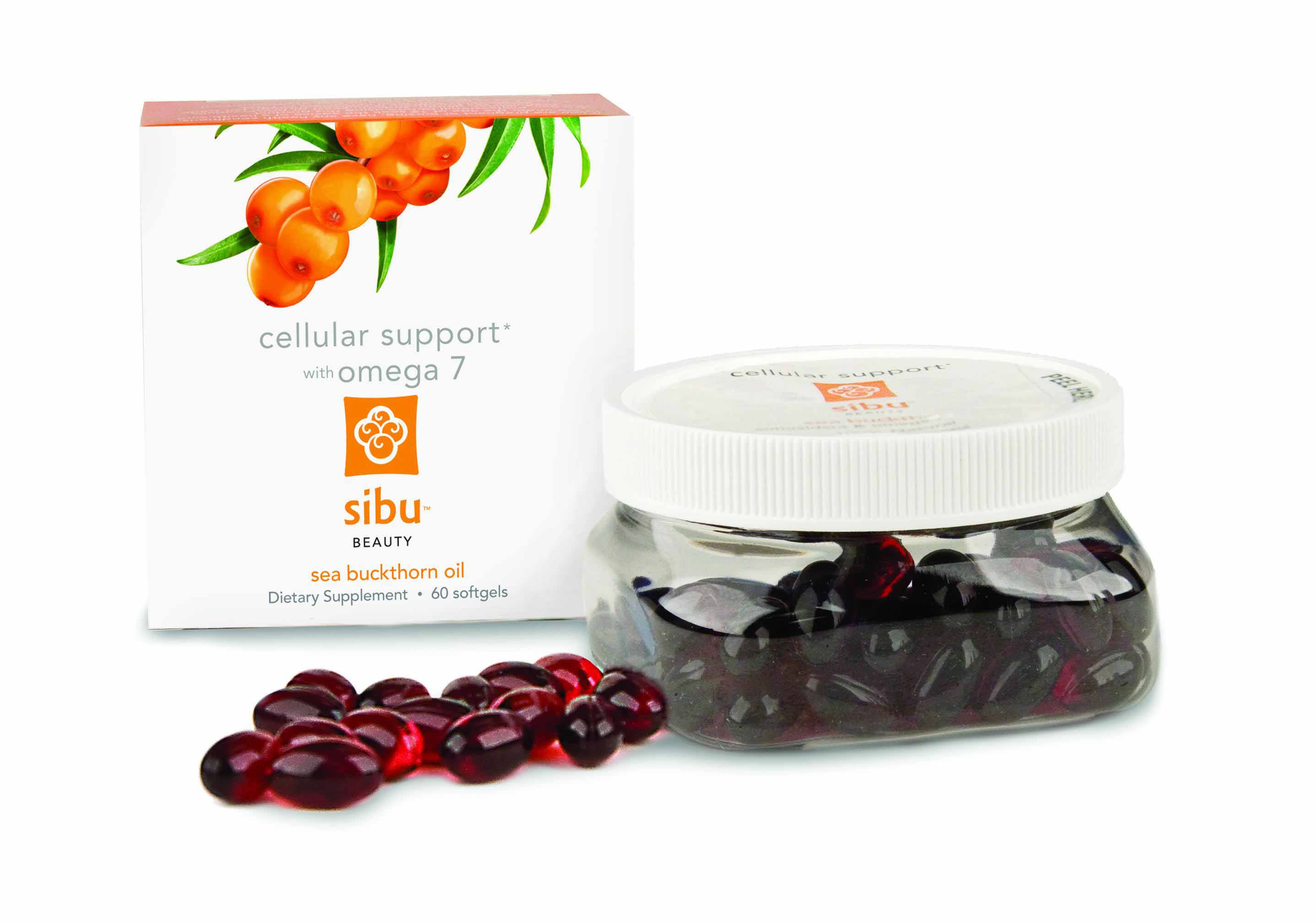 Sibu Beauty Cellular Support Omega 7 Complex Sea Buckthorn Berries Supplement