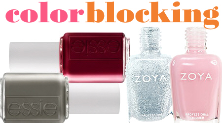 Colorblocking Nail Polish Trends