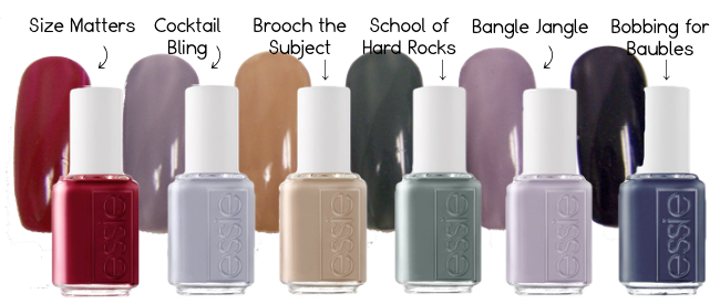 Essie Nail Polish Cocktail Winter Swatches