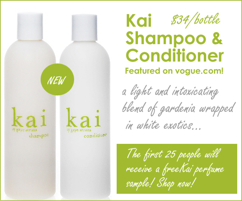 Kai shampoo and conditioner