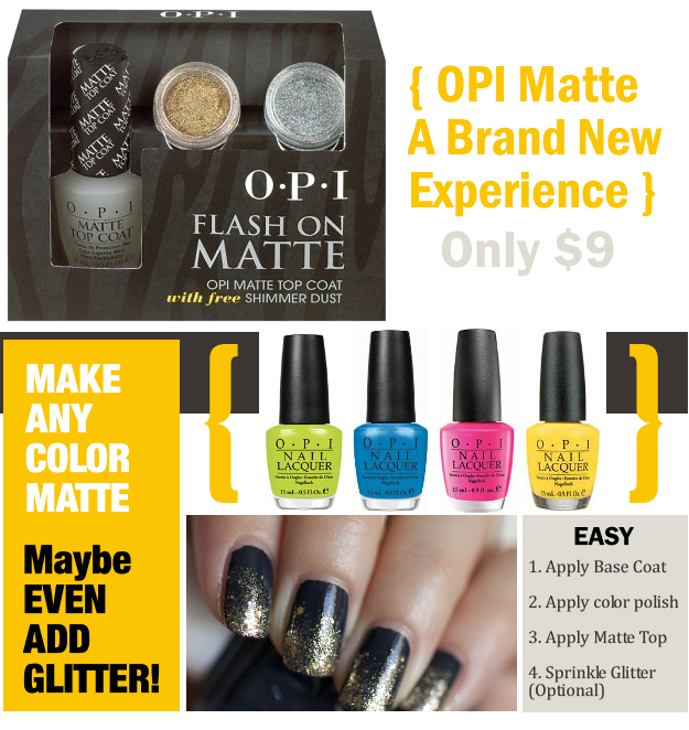 how to use matte top coat opi